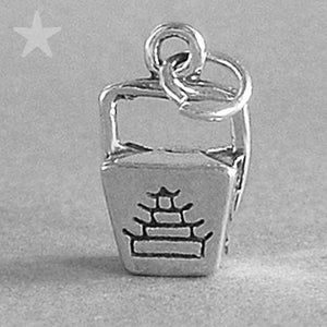 Chinese Takeaway Charm Sterling Silver Food Pendant | Silver Star Charms