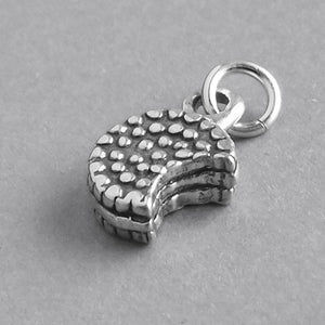 Biscuit Charm Sterling Silver Cookie Pendant | Amanda Jo Charms