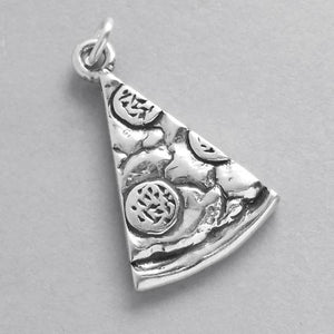 Sterling Silver Pizza Slice Charm