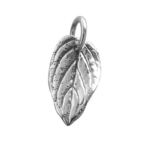 Leaf Charm Sterling Silver Nature Pendant | Amanda Jo Charms