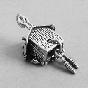 Sterling Silver Cuckoo Clock Charm Pendant
