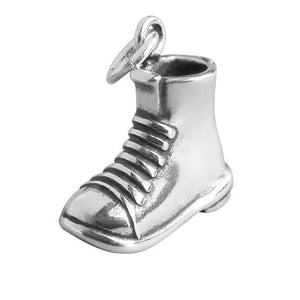 Work boot charm sterling silver 925 pendant