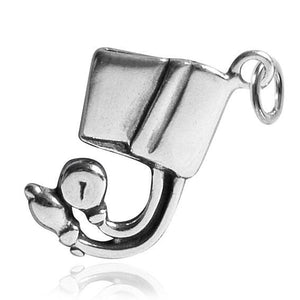 Blood Pressure Cuff Charm Sterling Silver Pendant | Amanda Jo Charms