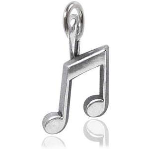 Sterling Silver Music Note Charm Pendant