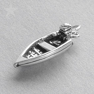 Sterling Silver Speedboat Charm | Amanda Jo Charms