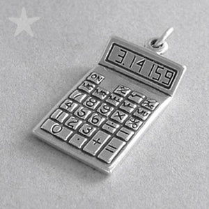 Sterling Silver Calculator Pendant