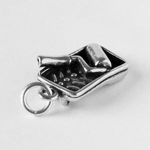 Sterling Silver Paint Tray and Roller Pendant