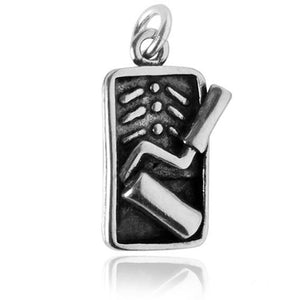 Sterling Silver Paint Tray and Roller Charm