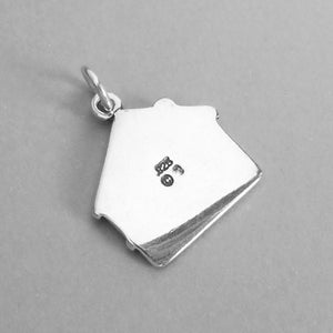 Real Estate House Sold Charm Pendant Sterling Silver