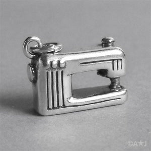 Modern sewing machine charm sterling silver 925 pendant