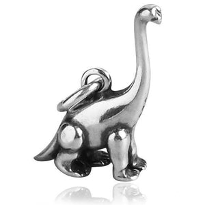 Sauropod Dinosaur Charm Sterling Silver Pendant | Silver Star Charms