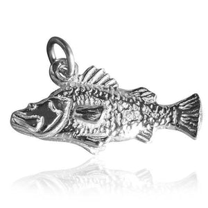 Australian Barramundi Fish Charm Sterling Silver or Gold