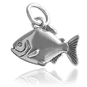 Sterling Silver Piranha Fish Charm