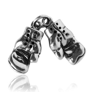 Sterling Silver Boxing Gloves Charm
