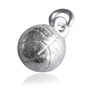 Basketball Ball Charm 925 Sterling Silver or Gold
