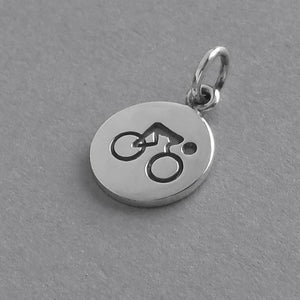 Bicycle Charm Sterling Silver Sport Pendant | Amanda Jo Charms