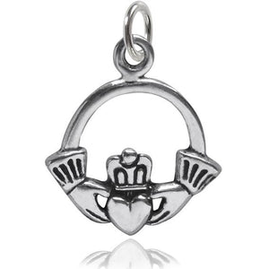 Claddagh Irish crowned heart in hands symbol | Amanda Jo Charms