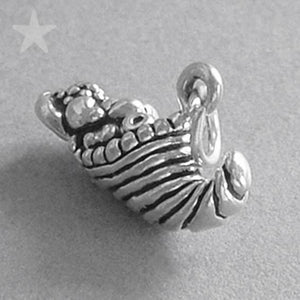 Silver Horn of Fruit and Vegetables Charm