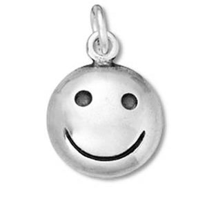 Happy Smiley Face Charm | Silver Star Charms