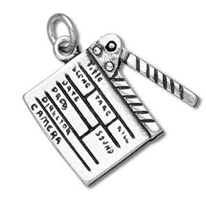 Sterling Silver Movie Slate Clapboard Charm