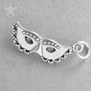 Sterling Silver Mardi Gras Mask Charm