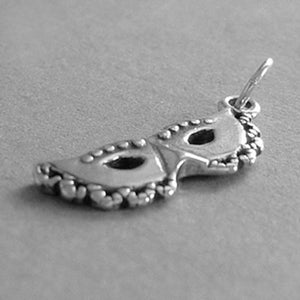 Sterling Silver Carnival Mask Charm