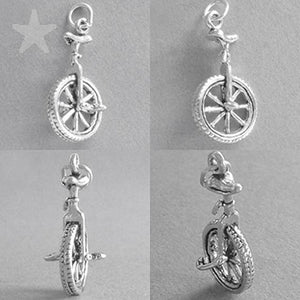Unicycle Charm 925 Sterling Silver Amanda Jo Charms Pendant