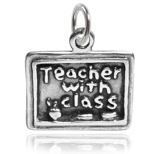 Sterling Silver School Blackboard Charm