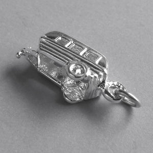 Caravan Trailer Charm in Sterling Silver or Gold | Charmarama
