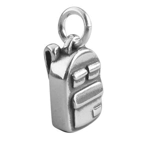 Backpack charm sterling silver 925 rucksack charm