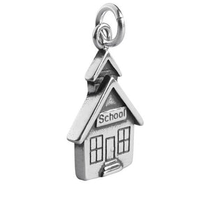 School House Charm in 925 Sterling Silver Pendant | Amanda Jo Charms