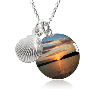 Balmoral Beach Sunrise Seashell Charm Necklace