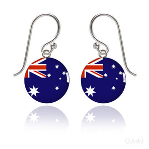 Australia Flag Meniscus Earrings