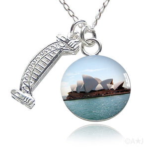 Sydney Harbour Bridge and Opera House Charm Necklace by Amanda Jo