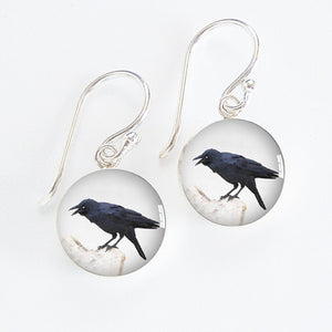 Crow Meniscus Earrings