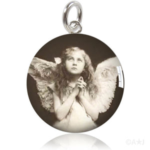 Angel Girl Meniscus Pendant