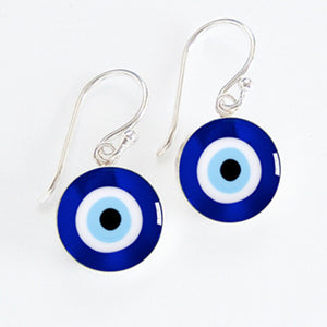 Evil Eye Meniscus Earrings