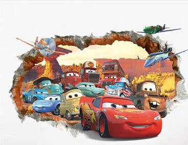 Cars and Planes Wall Sticker
