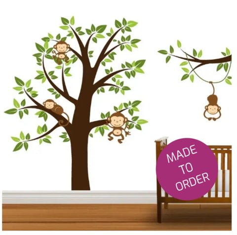 Monkey Tree Vinyl Wall Sticker