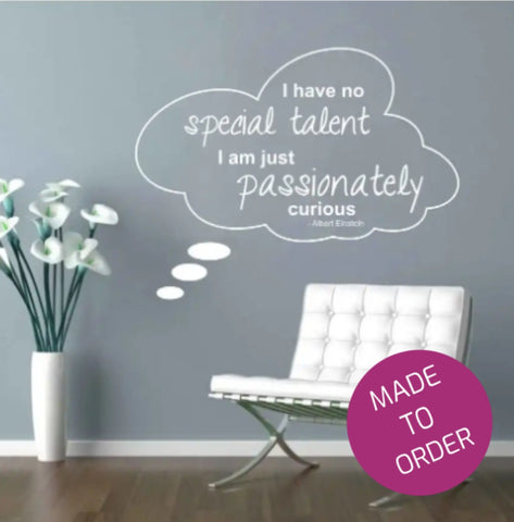 Passionately Curious Wall Sticker