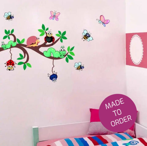 Cute Bugs Vinyl Wall Sticker