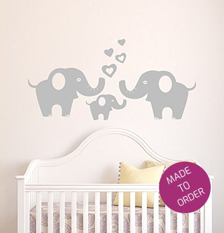 Love Elephants Wall Sticker