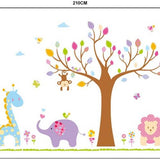 Pretty Zoo Animals and Tree