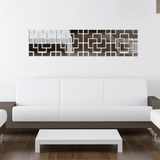 Abstract Mirror Wall Sticker