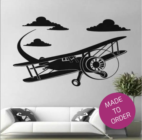Big Airplane Wall Sticker