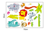 Animal Fun Wall Sticker Size