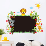 Animals and Blackboard Wall Sticker