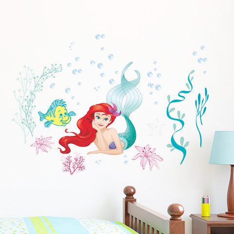 Ariel and Flounder Wall Sticker