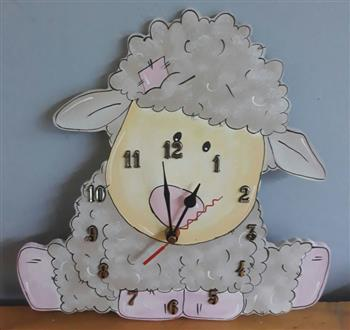 Sheep Wooden Clock