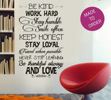 Be Kind Quote Wall Sticker